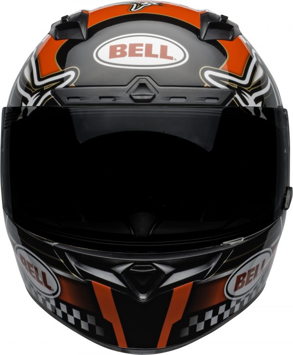 bell-qualifier-dlx-mips-street-helmet-isle-of-man-2020-gloss-red-black-white-front.jpg-Bell Street 2021 Qualifier DLX MIPS Adult Helmet (IOM 20 Red/Black/White)