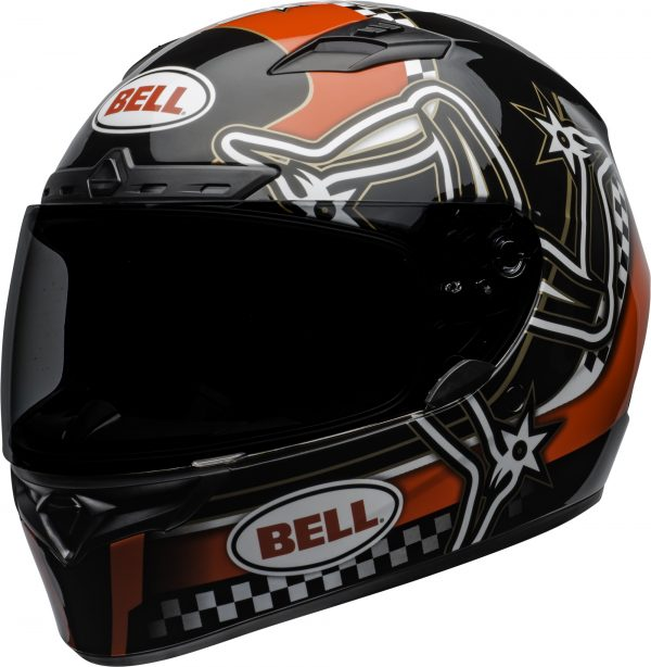 bell-qualifier-dlx-mips-street-helmet-isle-of-man-2020-gloss-red-black-white-front-left.jpg-Bell Street 2021 Qualifier DLX MIPS Adult Helmet (IOM 20 Red/Black/White)
