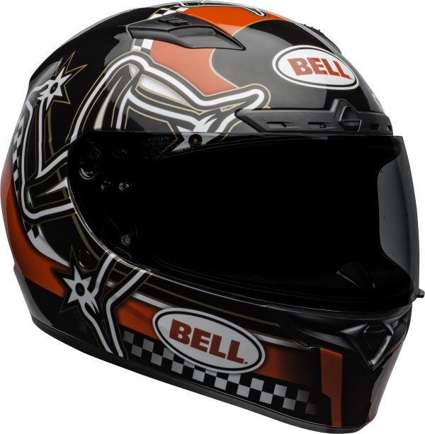 bell-qualifier-dlx-mips-street-helmet-isle-of-man-2020-gloss-red-black-white-front-right.jpg-Bell Street 2021 Qualifier DLX MIPS Adult Helmet (IOM 20 Red/Black/White)