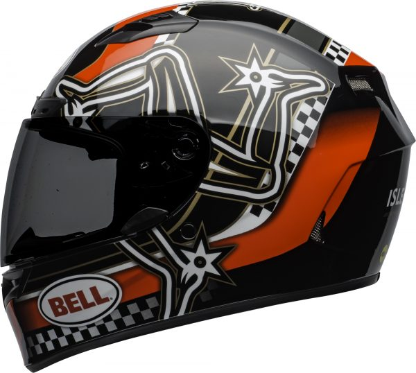 bell-qualifier-dlx-mips-street-helmet-isle-of-man-2020-gloss-red-black-white-left.jpg-Bell Street 2021 Qualifier DLX MIPS Adult Helmet (IOM 20 Red/Black/White)