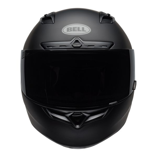 bell-qualifier-dlx-mips-street-helmet-matte-black-front.jpg-Bell Street 2021 Qualifier DLX Mips Adult Helmet (Solid Matte Black)