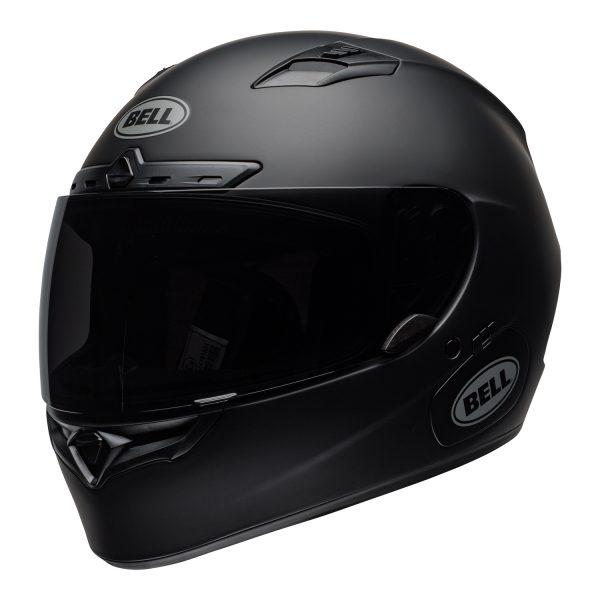 bell-qualifier-dlx-mips-street-helmet-matte-black-front-left.jpg-Bell Street 2021 Qualifier DLX Mips Adult Helmet (Solid Matte Black)