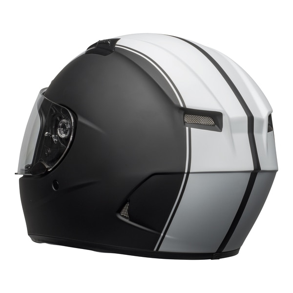 bell-qualifier-dlx-mips-street-helmet-rally-matte-black-white-back-left-clear-shield__82038.1601550705.jpg-Bell Street 2021 Qualifier DLX Mips Adult Helmet (Rally Matte Black/White)