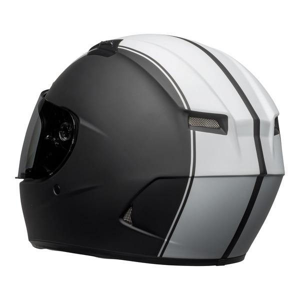 bell-qualifier-dlx-mips-street-helmet-rally-matte-black-white-back-left__64367.1601550706.jpg-Bell Street 2021 Qualifier DLX Mips Adult Helmet (Rally Matte Black/White)