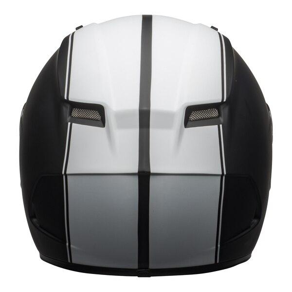 bell-qualifier-dlx-mips-street-helmet-rally-matte-black-white-back__81447.1601550706.jpg-Bell Street 2021 Qualifier DLX Mips Adult Helmet (Rally Matte Black/White)