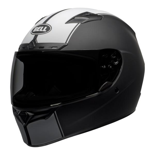 bell-qualifier-dlx-mips-street-helmet-rally-matte-black-white-front-left__65963.1601550705.jpg-Bell Street 2021 Qualifier DLX Mips Adult Helmet (Rally Matte Black/White)