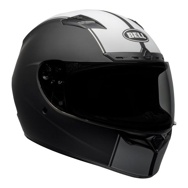 bell-qualifier-dlx-mips-street-helmet-rally-matte-black-white-front-right__22350.1601550706.jpg-Bell Street 2021 Qualifier DLX Mips Adult Helmet (Rally Matte Black/White)