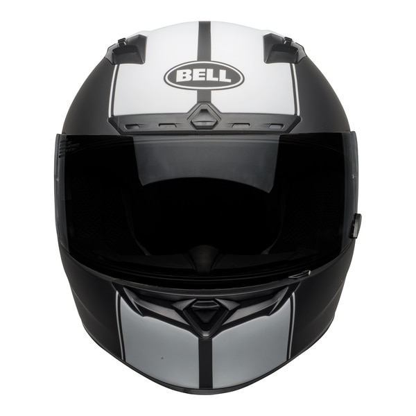 bell-qualifier-dlx-mips-street-helmet-rally-matte-black-white-front__93779.1601550705.jpg-Bell Street 2021 Qualifier DLX Mips Adult Helmet (Rally Matte Black/White)