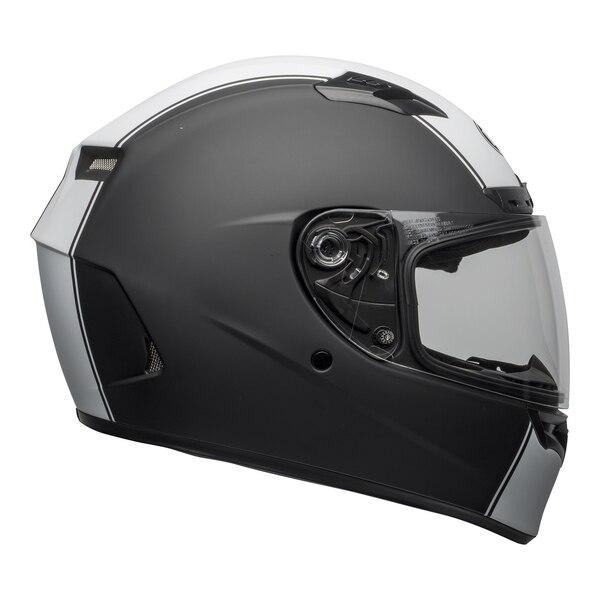 bell-qualifier-dlx-mips-street-helmet-rally-matte-black-white-right-clear-shield__93508.1601550706.jpg-Bell Street 2021 Qualifier DLX Mips Adult Helmet (Rally Matte Black/White)