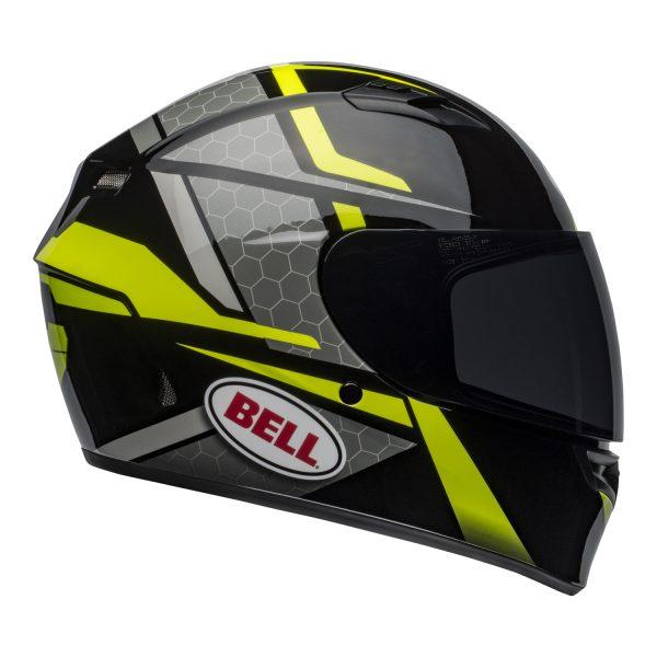 bell-qualifier-street-helmet-flare-gloss-black-hi-viz-right.jpg-Bell Street 2021 Qualifier STD Adult Helmet Helmet (Flare Gloss Black/Hi-Viz)