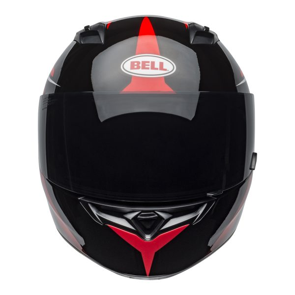 bell-qualifier-street-helmet-flare-gloss-black-red-front.jpg-Bell Street 2021 Qualifier STD Adult Helmet Helmet (Flare Gloss Black/Red)