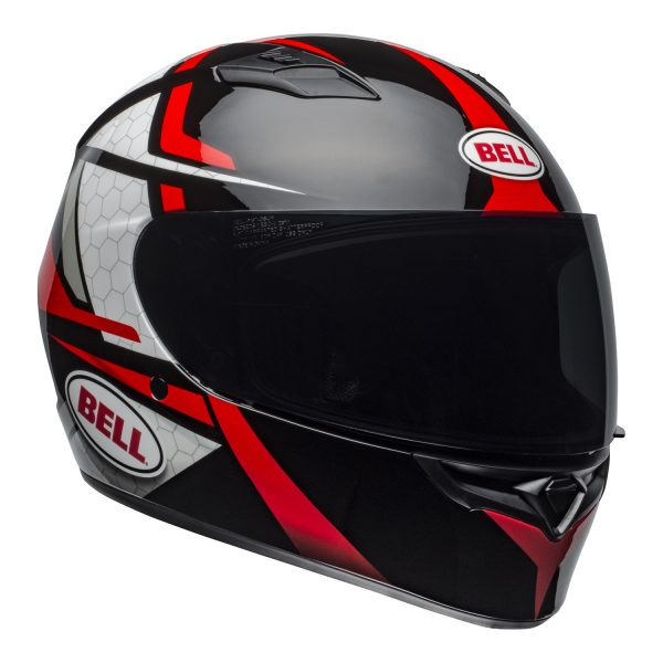 bell-qualifier-street-helmet-flare-gloss-black-red-front-right.jpg-Bell Street 2021 Qualifier STD Adult Helmet Helmet (Flare Gloss Black/Red)