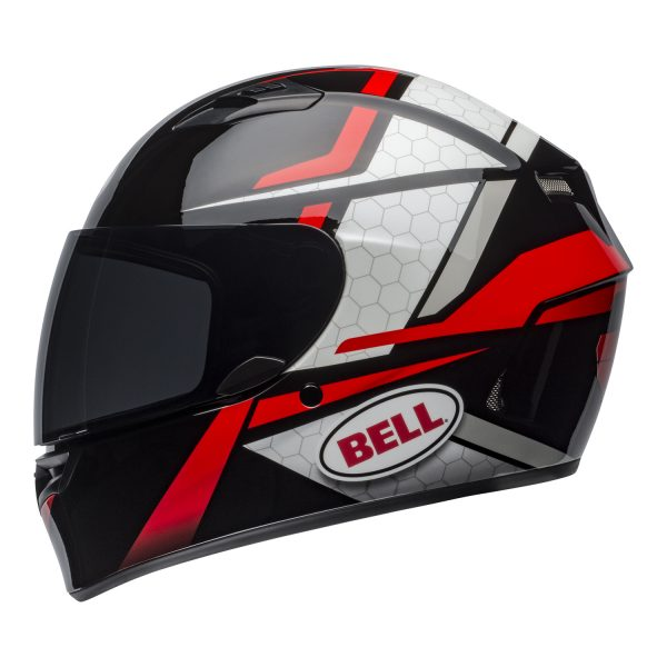 bell-qualifier-street-helmet-flare-gloss-black-red-left.jpg-Bell Street 2021 Qualifier STD Adult Helmet Helmet (Flare Gloss Black/Red)