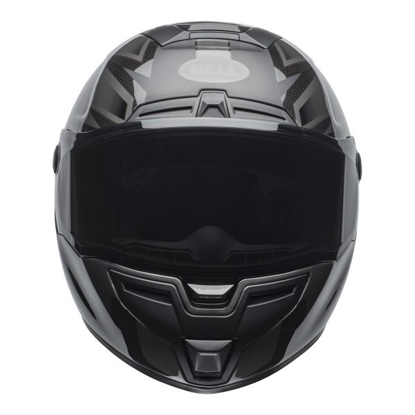 bell-srt-street-helmet-predator-matte-gloss-blackout-front.jpg-Bell Street 2021 SRT Adult Helmet (Blackout Matte/Gloss Black)