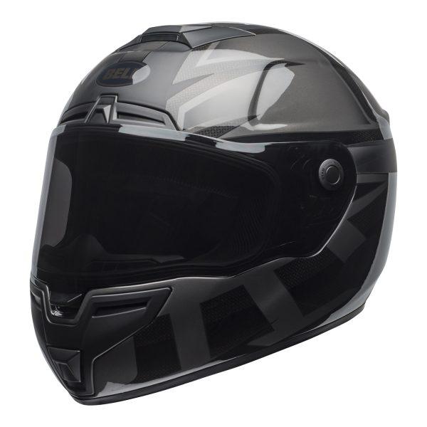 bell-srt-street-helmet-predator-matte-gloss-blackout-front-left.jpg-Bell Street 2021 SRT Adult Helmet (Blackout Matte/Gloss Black)