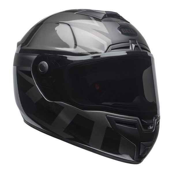 bell-srt-street-helmet-predator-matte-gloss-blackout-front-right.jpg-Bell Street 2021 SRT Adult Helmet (Blackout Matte/Gloss Black)