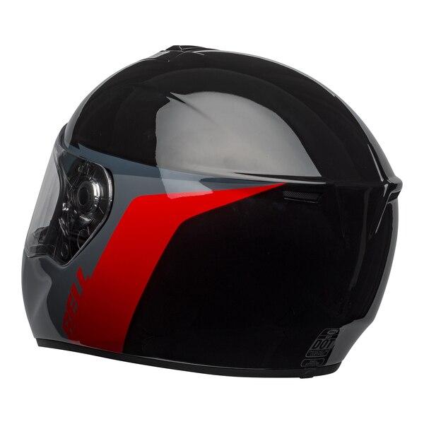 bell-srt-street-helmet-razor-gloss-black-gray-red-back-left-clear-shield__42411.1601548015.jpg-Bell Street 2021 SRT Adult Helmet (Razor Black/Grey/Red)