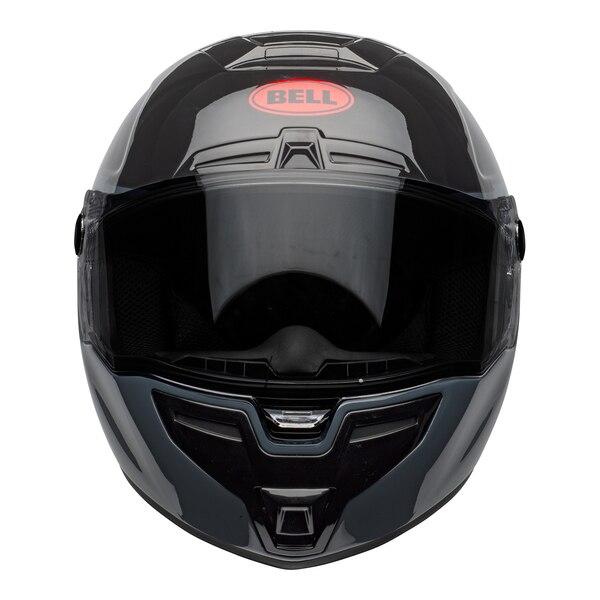 bell-srt-street-helmet-razor-gloss-black-gray-red-front__49248.1601548015.jpg-Bell Street 2021 SRT Adult Helmet (Razor Black/Grey/Red)