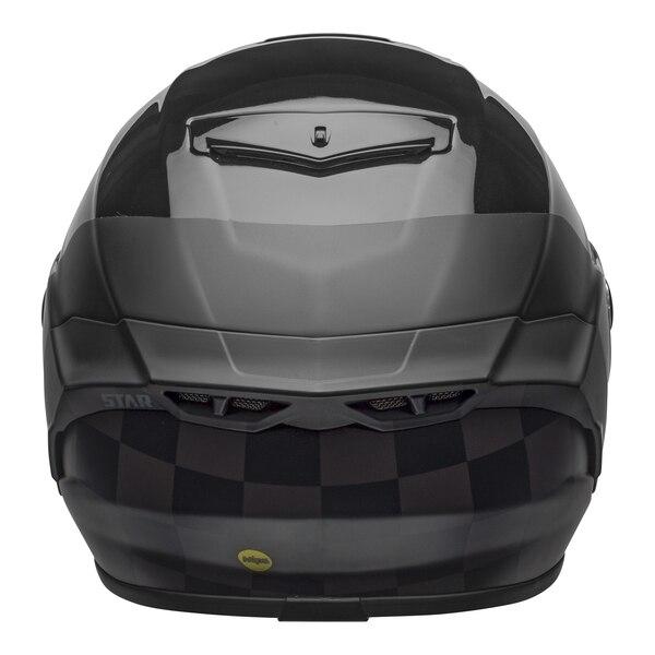 bell-star-dlx-mips-ece-street-helmet-lux-checkers-matte-gloss-black-root-beer-back__48269.1603185524.jpg-Bell Street 2021 Star DLX MIPS Adult Helmet Helmet (Lux Checkers M/G Black/Rootbeer)