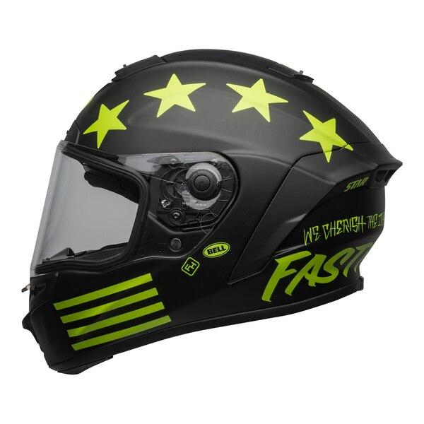 bell-star-dlx-mips-street-helmet-fasthouse-victory-circle-matte-black-hi-viz-left-clear-shield__32878.1601547420.jpg-Bell Street 2021 Star DLX MIPS Adult Helmet Helmet (Fasthouse Matte Black/Hi-Viz)