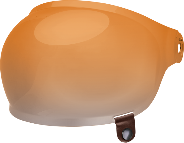 bell-bullitt-bubble-shield-spare-part-amber-gradient-brown-tab-front-left.png-BELL BULLITT BUBBLE SHIELDS VARIOUS COLOURS (WITH BROWN TAB)