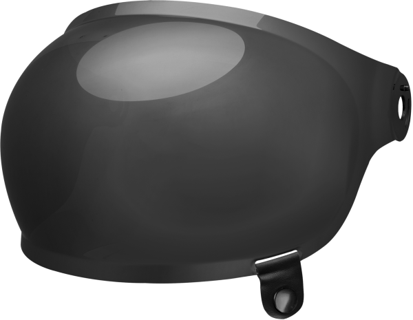 bell-bullitt-bubble-shield-spare-part-dark-smoke-black-tab-front-left.png-BELL BULLITT BUBBLE SHIELDS VARIOUS COLOURS (WITH BLACK TAB)