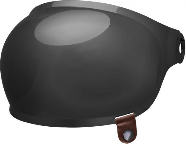 bell-bullitt-bubble-shield-spare-part-dark-smoke-brown-tab-front-left.jpg-BELL BULLITT BUBBLE SHIELDS VARIOUS COLOURS (WITH BROWN TAB)