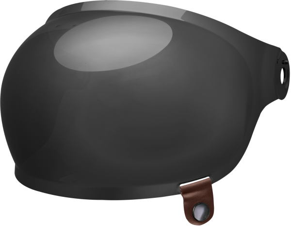 bell-bullitt-bubble-shield-spare-part-dark-smoke-brown-tab-front-left.png-BELL BULLITT BUBBLE SHIELDS VARIOUS COLOURS (WITH BROWN TAB)
