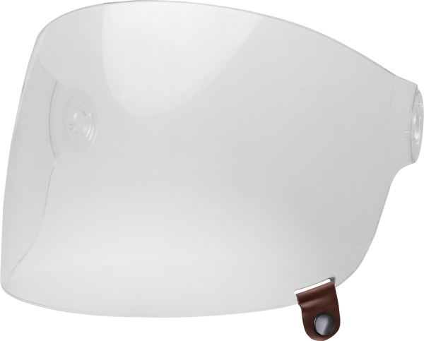 bell-bullitt-flat-shield-spare-part-clear-brown-tab-front-left.png-BELL BULLITT BUBBLE SHIELDS VARIOUS COLOURS (WITH BROWN TAB)