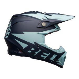 Bell MX 2021 Moto-9 Flex Adult Helmet (Breakaway Matte Navy/Light Blue)
