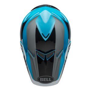 Bell MX 2021 Moto-9 Flex Adult Helmet (Division M/G White/Black/Blue)