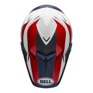 Bell MX 2021 Moto-9 Flex Adult Helmet (Division M/G White/Blue/Red)