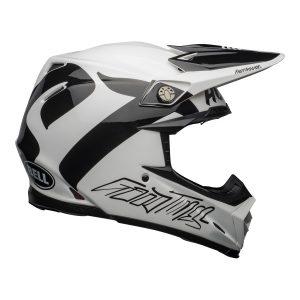 Bell MX 2021 Moto-9 Flex Adult Helmet (Fasthouse Newhall White/Black)