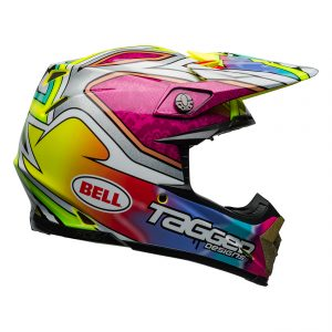 Bell MX 2021 Moto-9 Flex Adult Helmet (Tagger Mayhem Green/Black/White)