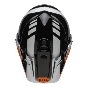 Bell MX 2021 MX-9 Adventure Mips Adult Helmet (Dash Black/White/Orange)