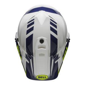 Bell MX 2021 MX-9 Adventure Mips Adult Helmet (Dash White/Blue/Hi Viz)