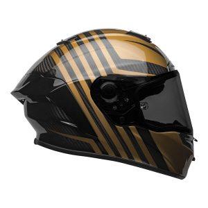 Bell Street 2021 Race Star Flex DLX Adult Helmet (Black/Gold)