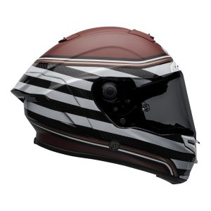 Bell Street 2021 Race Star DLX Adult Helmet (RSD The Zone M/G White/Candy Red)