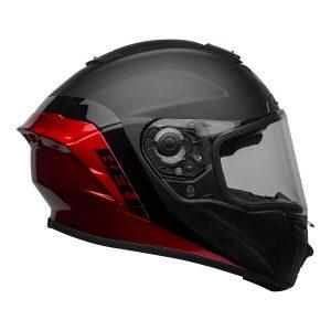 Bell Street 2021 Star DLX MIPS Adult Helmet Helmet (Shockwave M/G Black/Candy Red)